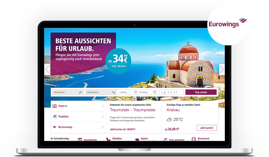 Mairdumont Media vermarktet Eurowings
